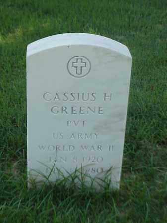 GREENE (VETERAN WWII), CASSIUS H - Pulaski County, Arkansas | CASSIUS H GREENE (VETERAN WWII) - Arkansas Gravestone Photos