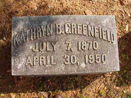 GREENEFIELD, KATHRYN B - Pulaski County, Arkansas | KATHRYN B GREENEFIELD - Arkansas Gravestone Photos