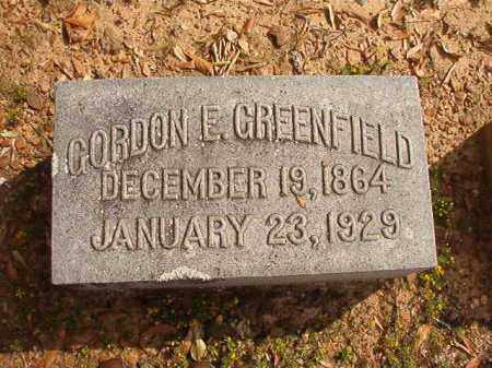 GREENFIELD, GORDON E - Pulaski County, Arkansas | GORDON E GREENFIELD - Arkansas Gravestone Photos