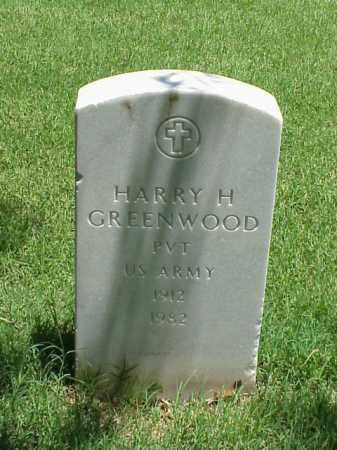 GREENWOOD (VETERAN), HARRY H - Pulaski County, Arkansas | HARRY H GREENWOOD (VETERAN) - Arkansas Gravestone Photos