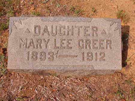 GREER, MARY LEE - Pulaski County, Arkansas | MARY LEE GREER - Arkansas Gravestone Photos