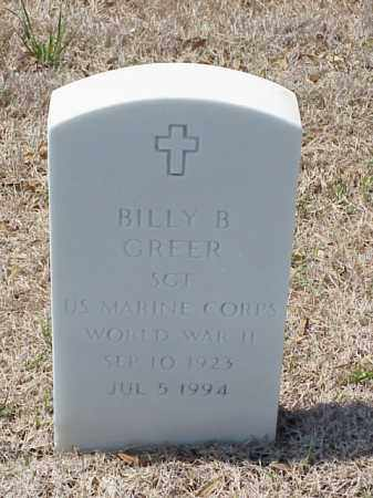 GREER (VETERAN WWII), BILLY B - Pulaski County, Arkansas | BILLY B GREER (VETERAN WWII) - Arkansas Gravestone Photos