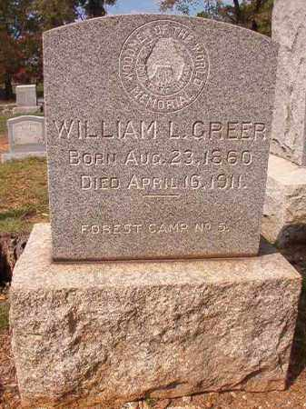 GREER, WILLIAM L - Pulaski County, Arkansas | WILLIAM L GREER - Arkansas Gravestone Photos