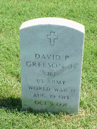 GREESON, JR (VETERAN WWII), DAVID P - Pulaski County, Arkansas | DAVID P GREESON, JR (VETERAN WWII) - Arkansas Gravestone Photos