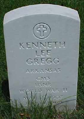 GREGG (VETERAN WWII), KENNETH LEE - Pulaski County, Arkansas | KENNETH LEE GREGG (VETERAN WWII) - Arkansas Gravestone Photos
