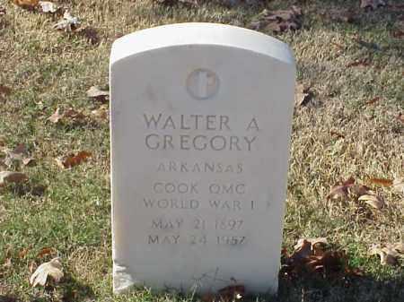 GREGORY  (VETERAN WWI), WALTER A - Pulaski County, Arkansas | WALTER A GREGORY  (VETERAN WWI) - Arkansas Gravestone Photos