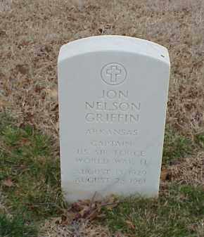 GRIFFIN  (VETERAN WWII), JON NELSON - Pulaski County, Arkansas | JON NELSON GRIFFIN  (VETERAN WWII) - Arkansas Gravestone Photos