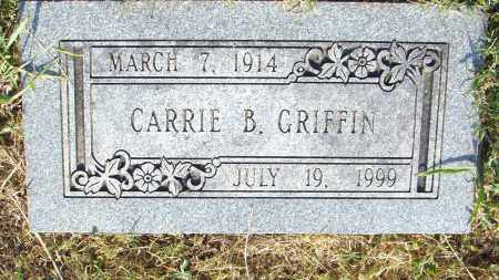 GRIFFIN, CARRIE B - Pulaski County, Arkansas | CARRIE B GRIFFIN - Arkansas Gravestone Photos