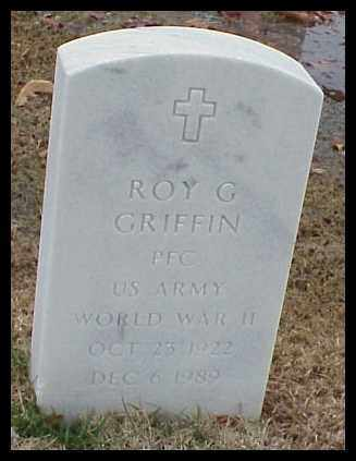 GRIFFIN (VETERAN WWII), ROY G - Pulaski County, Arkansas | ROY G GRIFFIN (VETERAN WWII) - Arkansas Gravestone Photos
