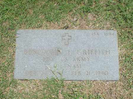GRIFFITH (VETERAN VIET), BENJAMIN H - Pulaski County, Arkansas | BENJAMIN H GRIFFITH (VETERAN VIET) - Arkansas Gravestone Photos