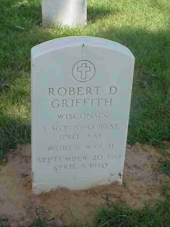GRIFFITH (VETERAN WWII), ROBERT D - Pulaski County, Arkansas | ROBERT D GRIFFITH (VETERAN WWII) - Arkansas Gravestone Photos