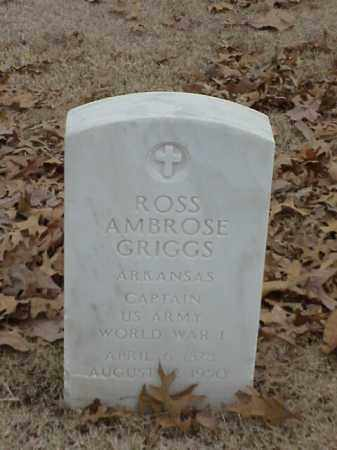 GRIGGS (VETERAN WWI), ROSS AMBROSE - Pulaski County, Arkansas | ROSS AMBROSE GRIGGS (VETERAN WWI) - Arkansas Gravestone Photos