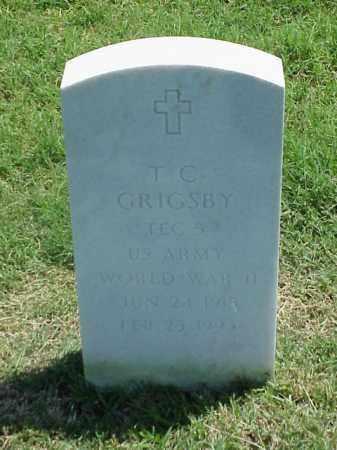 GRIGSBY (VETERAN WWII), T C - Pulaski County, Arkansas | T C GRIGSBY (VETERAN WWII) - Arkansas Gravestone Photos