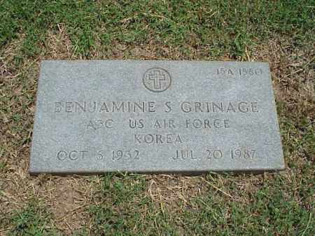 GRINAGE (VETERAN KOR), BENJAMINE S - Pulaski County, Arkansas | BENJAMINE S GRINAGE (VETERAN KOR) - Arkansas Gravestone Photos