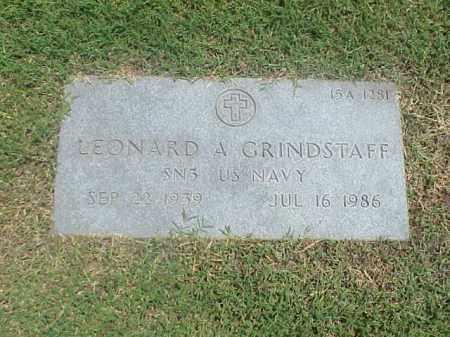 GRINDSTAFF (VETERAN), LEONARD A - Pulaski County, Arkansas | LEONARD A GRINDSTAFF (VETERAN) - Arkansas Gravestone Photos