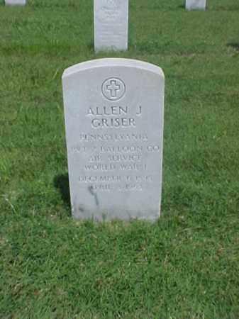GRISER (VETERAN WWI), ALLEN J - Pulaski County, Arkansas | ALLEN J GRISER (VETERAN WWI) - Arkansas Gravestone Photos