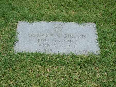 GIRSON (VETERAN WWII), GEORGE H - Pulaski County, Arkansas | GEORGE H GIRSON (VETERAN WWII) - Arkansas Gravestone Photos