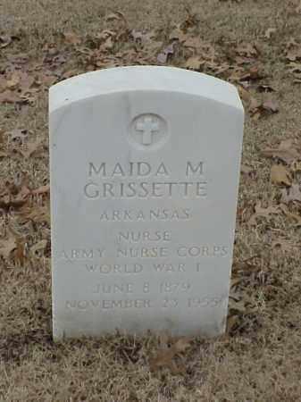 GRISSETTE (VETERAN WWI), MAIDA M - Pulaski County, Arkansas | MAIDA M GRISSETTE (VETERAN WWI) - Arkansas Gravestone Photos