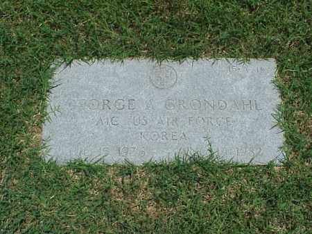 GRONDAHL (VETERAN KOR), GEORGE A - Pulaski County, Arkansas | GEORGE A GRONDAHL (VETERAN KOR) - Arkansas Gravestone Photos