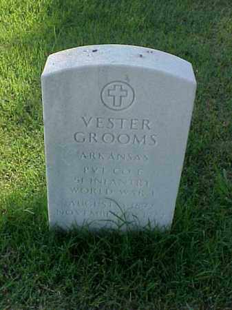 GROOMS (VETERAN WWI), VESTER - Pulaski County, Arkansas | VESTER GROOMS (VETERAN WWI) - Arkansas Gravestone Photos