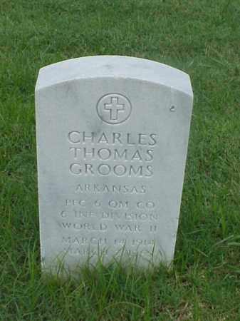 GROOMS (VETERAN WWII), CHARLES THOMAS - Pulaski County, Arkansas | CHARLES THOMAS GROOMS (VETERAN WWII) - Arkansas Gravestone Photos