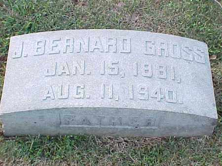 GROSS, J BERNARD - Pulaski County, Arkansas | J BERNARD GROSS - Arkansas Gravestone Photos
