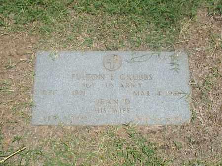 GRUBBS (VETERAN WWII), FULTON E - Pulaski County, Arkansas | FULTON E GRUBBS (VETERAN WWII) - Arkansas Gravestone Photos