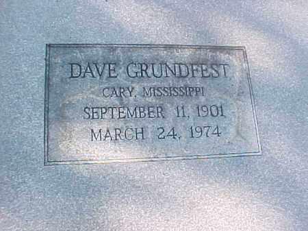 GRUNDFEST, DAVE (CLOSE UP) - Pulaski County, Arkansas   DAVE (CLOSE UP) GRUNDFEST - Arkansas Gravestone Photos