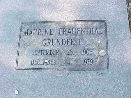 FRAUENTHAL GRUNDFEST, MAURINE (CLOSE UP) - Pulaski County, Arkansas | MAURINE (CLOSE UP) FRAUENTHAL GRUNDFEST - Arkansas Gravestone Photos