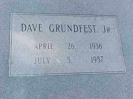 GRUNDFEST, JR, DAVE (CLOSEUP) - Pulaski County, Arkansas | DAVE (CLOSEUP) GRUNDFEST, JR - Arkansas Gravestone Photos