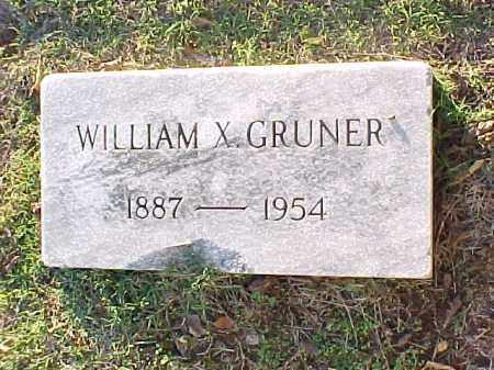 GRUNER, WILLIAM X - Pulaski County, Arkansas | WILLIAM X GRUNER - Arkansas Gravestone Photos