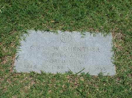 GUENTHER (VETERAN WWII), CARL W - Pulaski County, Arkansas | CARL W GUENTHER (VETERAN WWII) - Arkansas Gravestone Photos