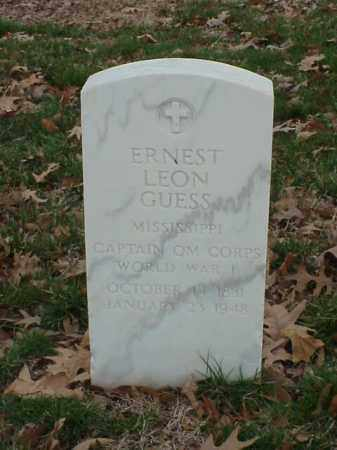 GUESS (VETERAN WWI), ERNEST LEON - Pulaski County, Arkansas | ERNEST LEON GUESS (VETERAN WWI) - Arkansas Gravestone Photos