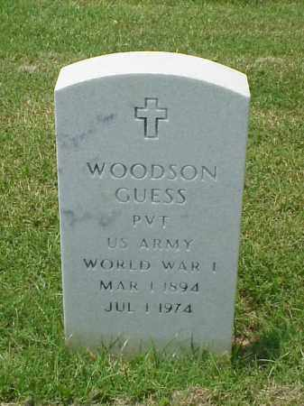 GUESS (VETERAN WWI), WOODSON - Pulaski County, Arkansas | WOODSON GUESS (VETERAN WWI) - Arkansas Gravestone Photos