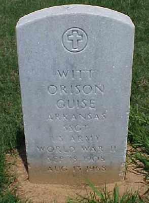 GUISE (VETERAN WWII), WITT ORISON - Pulaski County, Arkansas | WITT ORISON GUISE (VETERAN WWII) - Arkansas Gravestone Photos