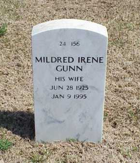 GUNN, MILDRED IRENE - Pulaski County, Arkansas | MILDRED IRENE GUNN - Arkansas Gravestone Photos