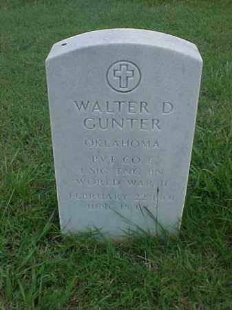GUNTER (VETERAN WWII), WALTER D - Pulaski County, Arkansas | WALTER D GUNTER (VETERAN WWII) - Arkansas Gravestone Photos