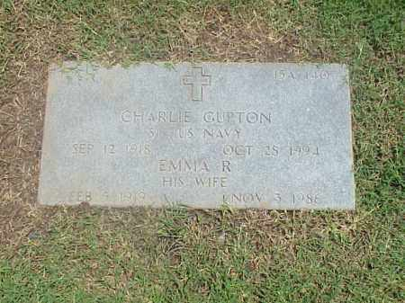 GUPTON (VETERAN WWII), CHARLIE - Pulaski County, Arkansas | CHARLIE GUPTON (VETERAN WWII) - Arkansas Gravestone Photos