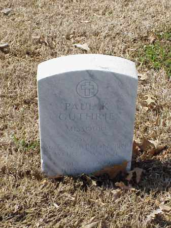 GUTHRIE (VETERAN WWII), PAUL K - Pulaski County, Arkansas | PAUL K GUTHRIE (VETERAN WWII) - Arkansas Gravestone Photos