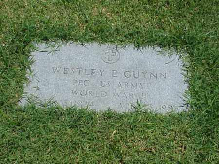 GUYNN (VETERAN WWII), WESTLEY E - Pulaski County, Arkansas | WESTLEY E GUYNN (VETERAN WWII) - Arkansas Gravestone Photos