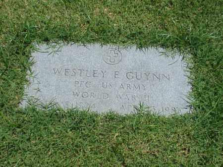 GUYNN (VETERAN WWII), WESTLEY E - Pulaski County, Arkansas | WESTLEY E GUYNN (VETERAN WWII) - Arkansas Gravestone Photos