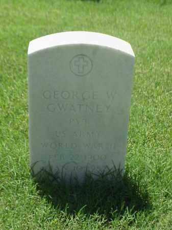 GWATNEY (VETERAN WWII), GEORGE W - Pulaski County, Arkansas   GEORGE W GWATNEY (VETERAN WWII) - Arkansas Gravestone Photos