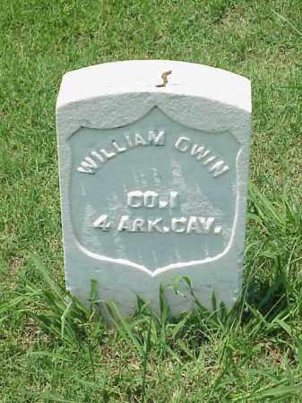 GWIN (VETERAN UNION), WILLIAM - Pulaski County, Arkansas | WILLIAM GWIN (VETERAN UNION) - Arkansas Gravestone Photos