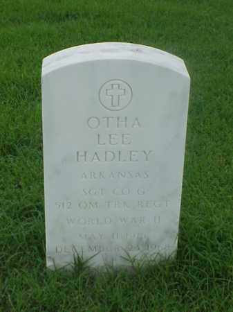 HADLEY (VETERAN WWII), OTHA LEE - Pulaski County, Arkansas | OTHA LEE HADLEY (VETERAN WWII) - Arkansas Gravestone Photos