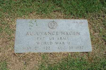 HAGEN (VETERAN WWII), AULUVANCE - Pulaski County, Arkansas | AULUVANCE HAGEN (VETERAN WWII) - Arkansas Gravestone Photos