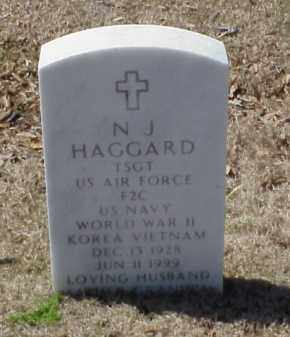 HAGGARD (VETERAN 3 WARS), N J - Pulaski County, Arkansas | N J HAGGARD (VETERAN 3 WARS) - Arkansas Gravestone Photos