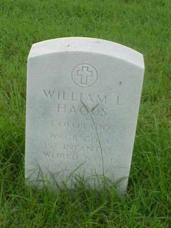 HAGUS (VETERAN WWI), WILLIAM L - Pulaski County, Arkansas | WILLIAM L HAGUS (VETERAN WWI) - Arkansas Gravestone Photos
