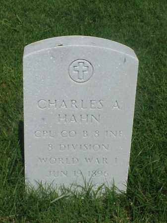 HAHN (VETERAN WWI), CHARLES A - Pulaski County, Arkansas | CHARLES A HAHN (VETERAN WWI) - Arkansas Gravestone Photos
