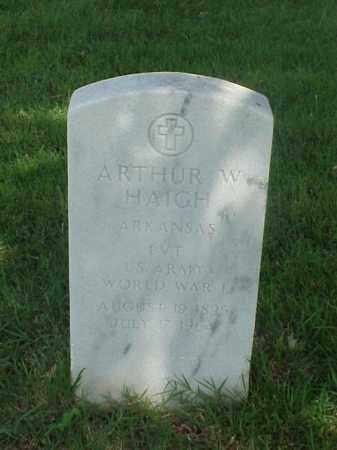 HAIGH (VETERAN WWI), ARTHUR W - Pulaski County, Arkansas | ARTHUR W HAIGH (VETERAN WWI) - Arkansas Gravestone Photos
