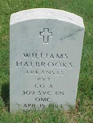 HALBROOKS (VETERAN WWI), WILLIAMS - Pulaski County, Arkansas | WILLIAMS HALBROOKS (VETERAN WWI) - Arkansas Gravestone Photos